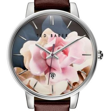 Ted Baker London Leather Strap Watch, 40mm   Nordstrom