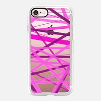 Razzle Dazzle Lines - Transparent/Clear Background iPhone 7 Case by Lisa Argyropoulos | Casetify
