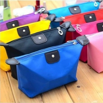 Candy Color Women's Cosmetic Cases Storage Boxes Make-up Bags Nylon Multipurpose Handbag Purse Clutch Bags = 1958119684