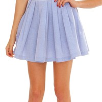 Happy Moment Mini Skirt - Blue