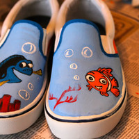 Finding Nemo customized shoes mens size 8 womens size by Jniems117