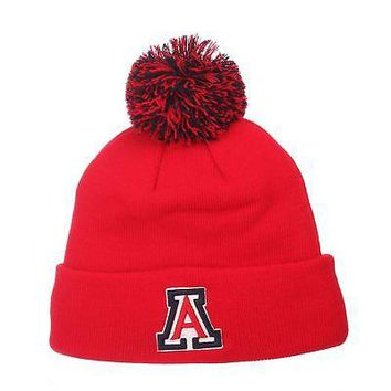 Licensed Arizona Wildcats Official NCAA Pom Adjustable Beanie Knit Sock Hat by Zephyr KO_19_1