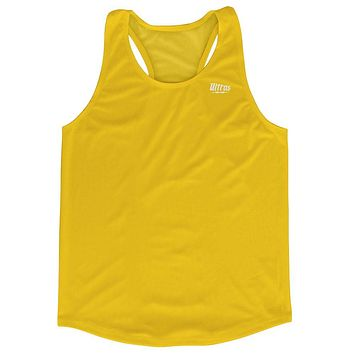 Yellow Running Tank Top Racerback Track and Cross Country Singlet Jersey