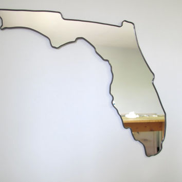 SALE SALE Florida Mirror / Wall Mirror State Outline Silhouette