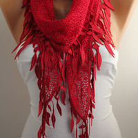 """#scarf #lace #new #love #want #need #scarves #shawls #red #spring #fashion"