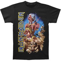 Iron Maiden Men's  Somewhere Back In Time T-shirt Black