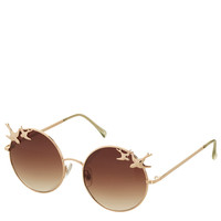 Swallow Trim Round Sunglasses - Topshop
