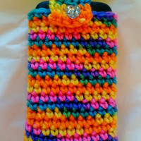 Crochet cell phone cover, cell phone case, crochet Ipod case, Ipod Cover, cell phone cozy
