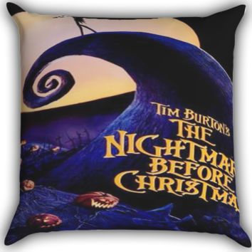 The Nightmare Before Christmas Jack Skellington A0225 Zippered Pillows  Covers 16x16, 18x18, 20x20 Inches