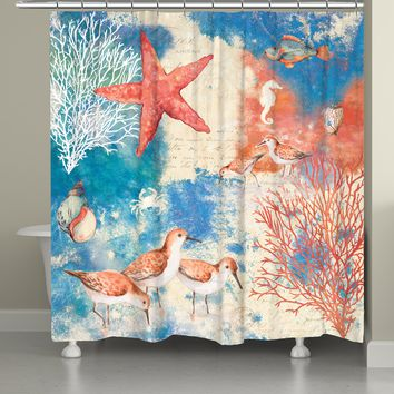 Ocean Splash Shower Curtain