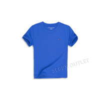 Tommy Hilfiger T Shirt Solid Blue Nantucket Tee