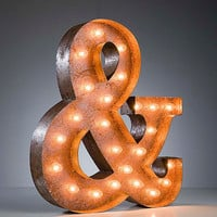 Vintage Marquee Lights - Ready to Ship - Ampersand & sign
