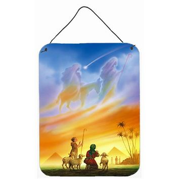 Shepherds being guided Christmas Wall or Door Hanging Prints APH0939DS1216