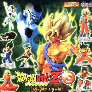 Bandai Dragon Ball Z DBZ Gashapon HG Part 2 7 Mini Trading Figure Set