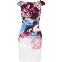 Floral cotton pencil dress