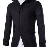 jeansian Men's Fashion Classical Multi-Pockets Solid Jacket Coat Outwear Tops 9344