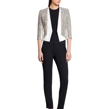 Narciso Rodriguez Tweed + Scuba Crepe Jacket - White/black