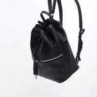 BACKPACK WITH ZIP DETAIL