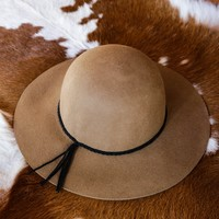 Wool Felt Floppy Hat, Pecan