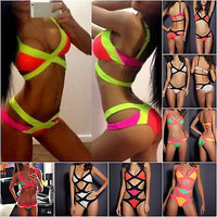 Sexy Bikini Women's Bandage Set Push-up Padded Bra Swimsuit Bathing Swimwear