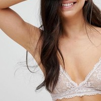 Monki Longline Lace Bra at asos.com