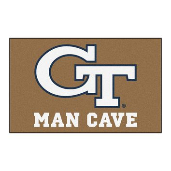 Georgia Tech Man Cave UltiMat Rug 5x8