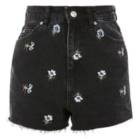 Topshop Floral Embroidered Mom Shorts | Nordstrom