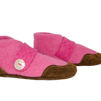 Kids Wool Shoes, Girl Mary Jane Slippers