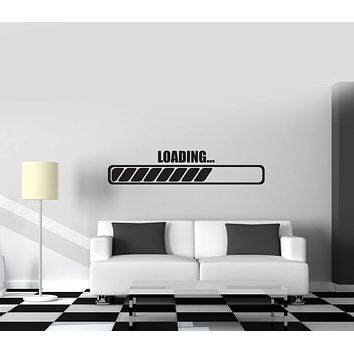 Wall Vinyl Decal Loading Load Gamer Gaming Room Nursery Decor Unique Gift z3811