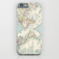 Teal Map Phone case, Hemishperes , Samsung Galaxy S3,S4, S5, s6 and Edge  iphone 6, 4/4S, 5 - World map Phone Cases, unique, gift