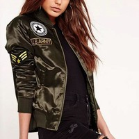Black Military U.S. Flight Jacket