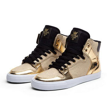 SUPRA WMNS VAIDER | GOLD / BLACK - WHITE | Official SUPRA Footwear Site