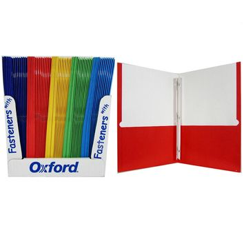 Oxford Twin Pocket Folders with Fasteners - CASE OF 100