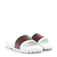 Gucci Men Green Red White Sandals