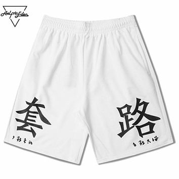 Fashion Network Popular Term Routines Print Men Shorts Casual Simple Cargo Shorts Man Cotton Board shorts