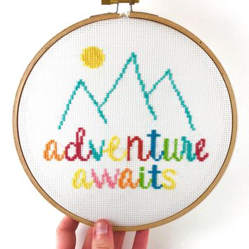 Adventure Awaits Cross Stitch Kit