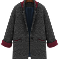 'The Claire' Long Sleeve Woolen  Coat