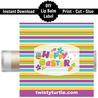 Easter Lip Balm Labels | DIY | Instant Download