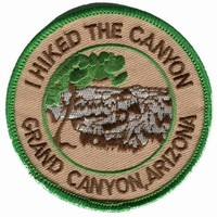 I Hiked The Grand Canyon National Park Iron On Travel Souvenir Patch