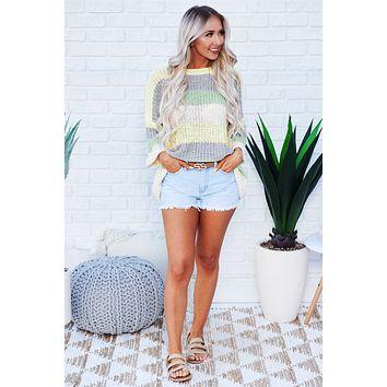 So Excited Color Block Sweater (Yellow)