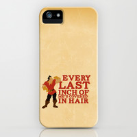 gaston.. beauty and the beast funny hair quote iPhone & iPod Case by studiomarshallarts