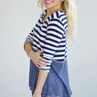 Take Me Home Striped Knit Top