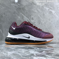hcxx N1462 Nike Air Max 720 Fashion Cushioned Running Shoes Wine Red