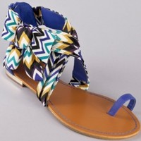 Bamboo Bloom-64 Bow Flat Printed Sandal:Amazon:Shoes