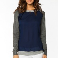 JEFFRIES SWEATER IN NAVY