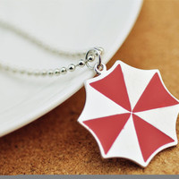 Umbrella Corporation Resident Evil Necklace Pendant Gift Red Zombie Chain