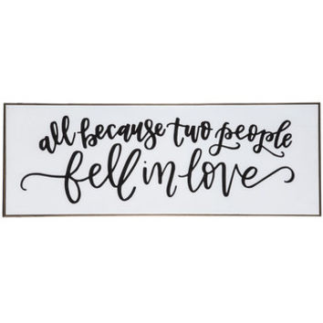 Two People Fell In Love Wood Wall Decor | Hobby Lobby | 1293695