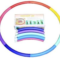 "Sports Hoop® for Exercise: Trim Hoop® 2MS - 2.3lb (Dia.37"") Medium-small, Exercise Hula Hoop with 50 minutes Workout Lesson DVD"