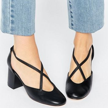 ASOS ORBIS Mid Heeled Shoes at asos.com