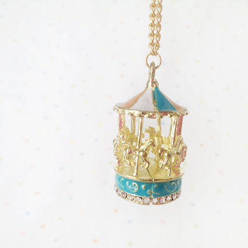 carousel necklace from sweet and lovely